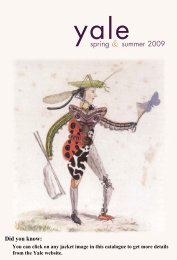 Spring 2009 General Catalogue - Yale University Press