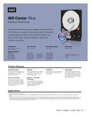 WD Caviar Blue Series Disti Spec Sheet