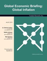 Global Inflation Rates - Dr. Ed Yardeni's Economics Network