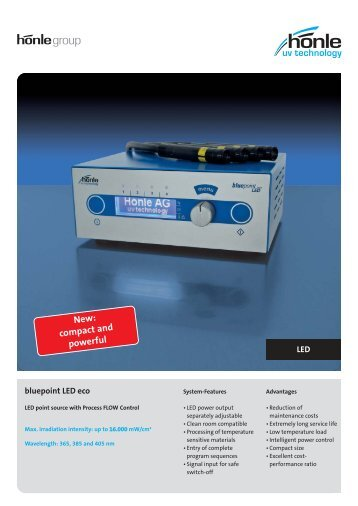 Product information bluepoint LED eco - Dr. Hönle AG