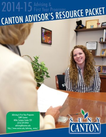 Canton Advisor's Resource Packet (PDF) - SUNY Canton
