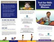 Track Your Child's Developmental Milestones - Missouri Department ...