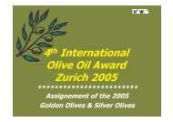 Assignement of the 2005 Golden Olives & Silver Olives