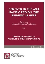 dementia in the asia pacific region - Alzheimer's Australia