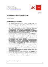 handwerkerkosten in wien 2011 - Arbeiterkammer Wien