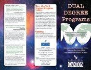 DUAL DEGREE Programs - SUNY Canton