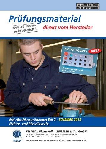 Gesamtkatalog Sommer 2013 - FELTRON Elektronik - ZEISSLER