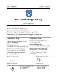 Bau und Nutzungsordnung - Gemeinde Schlossrued