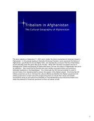 Tribalism in Afghanistan - U. S. Army Training Support Center