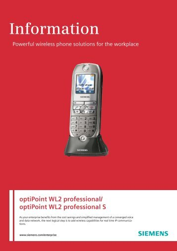 OptiPoint WL2 Professional S - Siemens Enterprise - Siemens ...