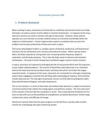 1. Problem Statement - Capstone Experience