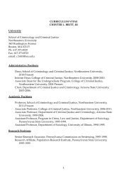 Curriculum Vitae - Northeastern University
