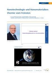 Nanotechnologie und Nanomaterialien: Chemie vom Feinsten