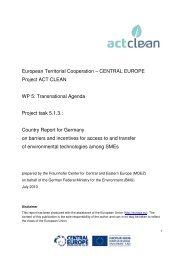 Country Report for Germany on SMEs needs ... - Central Europe