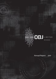 Annual Report 2009 - OBJ Limited