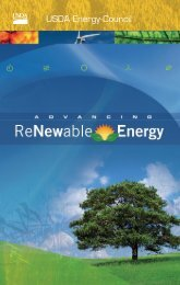 USDA Energy Council - The Rural Development Network