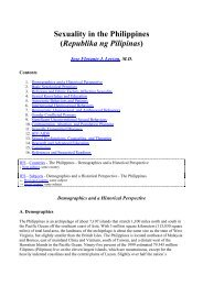 Sexuality in The Philippines - Philippine Culture