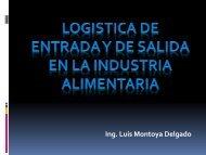 logistica de entrada y de salida en la industria alimentaria