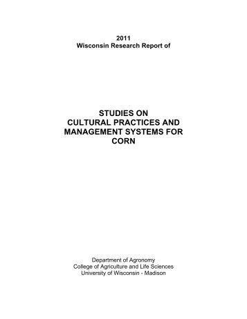 2011 - Wisconsin Corn Agronomy - University of Wisconsin-Madison
