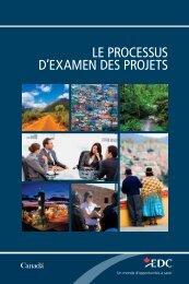 Le processus d'examen des projets - Exportation et ... - EDC