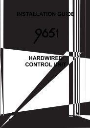 installation guide hardwired control unit - Alert Electrical