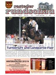 rasteder rundschau, Ausgabe Juli 2013