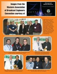 Images from the Western Association of Broadcast Engineers ...