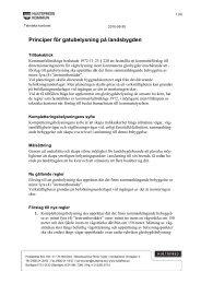 Principer för gatubelysning på landsbygden - Hultsfreds kommun