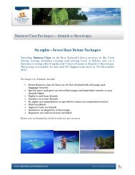 Business Class Packages.docx - Island Hopper Vacations