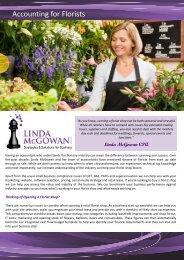 Accounting for Florists - Linda McGowan Accountants