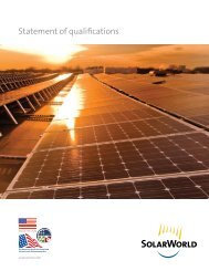 Statement of Qualifications from SolarWorld Americas LLC - NFMT