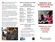Addiction and Substance Abuse Counseling - Catholic Diocese of ...