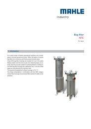 Bag filter AFE for cacao - MAHLE Industry - Filtration