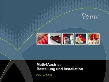 Anleitung Math4Austria Bestellung und Installation - ARGE 3D-CAD