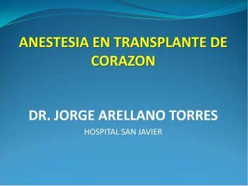 anestesia en transplante de corazon