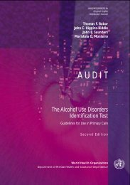 The Alcohol Use Disorders Identification Test - libdoc.who.int - World ...
