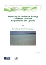 Monitoring for the Marine Strategy Framework Directive - JRC ...