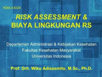 risk assessment lingkungan rs - Blog Staff UI - Universitas Indonesia
