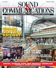 Sound and Communications - February 2008 Issue