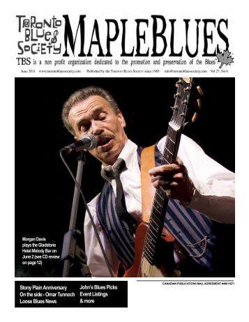 Stony Plain Anniversary On the side - Toronto Blues Society