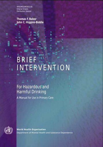 BRIEF INTERVENTION - libdoc.who.int - World Health Organization