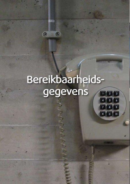 Bereikbaarheids- gegevens - Veiligheidsregio IJsselland