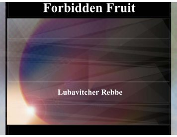 Forbidden Fruit - The Jewish Home