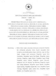 Keputusan Presiden Nomor 3 Tahun 2011 - Badilag