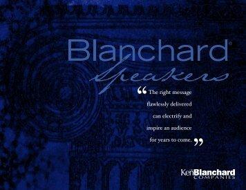download speakers brochure - The Ken Blanchard Companies
