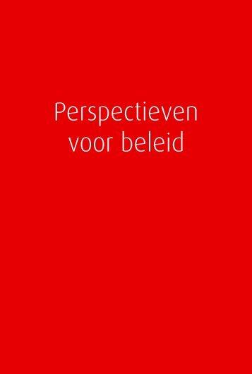 Perspectieven voor beleid - Welvaart en Leefomgeving