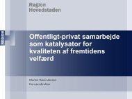 Offentligt-privat samarbejde som katalysator for kvaliteten af ...