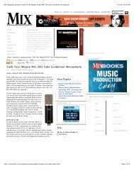 Mix magazine product review of the Mojave Audio MA-200 tube ...