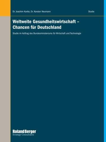 Weltweite Gesundheitswirtschaft – Chancen für Deutschland