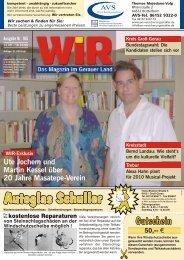 ZNÛTTMV ;QM [QKP 1PZM - Das WIR-Magazin im Gerauer Land